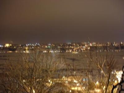 Le Saint Laurent gelé (Ville de Québec, Canada)