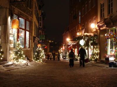 Le vieux Québec pendant noël 2005 (Ville de Québec, Canada)