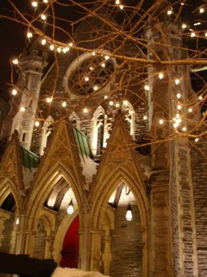 Eglise dans le centre ville (Ville de Montréal, province du Québec, Canada)
