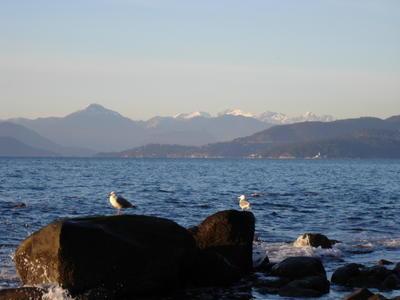 L'océan pacifique depuis les plages de UBC (Vancouver, Colombie Britannique, Canada)