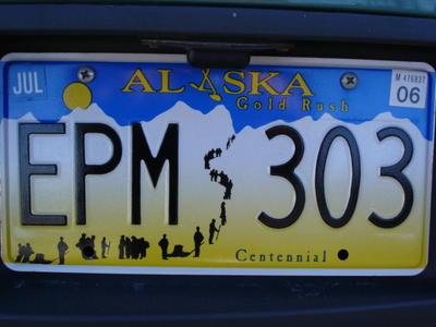 Plaque d'immatriculation (Alaska, USA, Amérique du Nord)