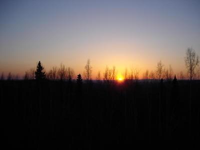 Couché de soleil (Alaska, USA, Amérique du Nord)
