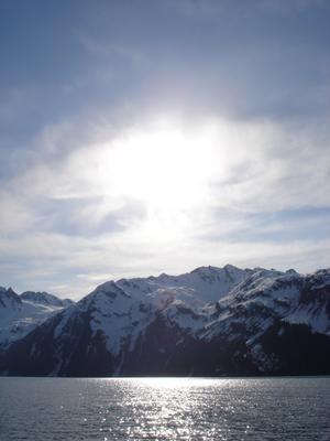 Seward depuis le bateau (Alaska, USA, Amérique du Nord)
