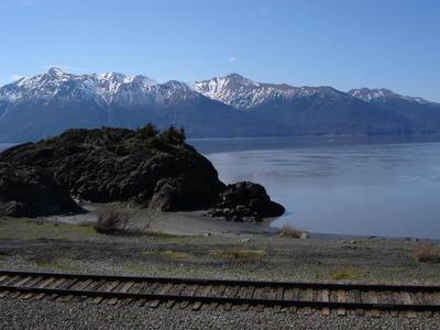 A proximité d'Anchorage, au bord de la route (Alaska, USA, Amérique du Nord)
