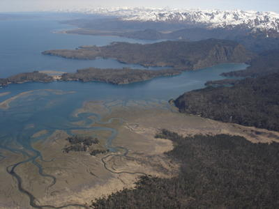 Vue aérienne du sud de l'Alaska (Alaska, USA, Amérique du Nord)