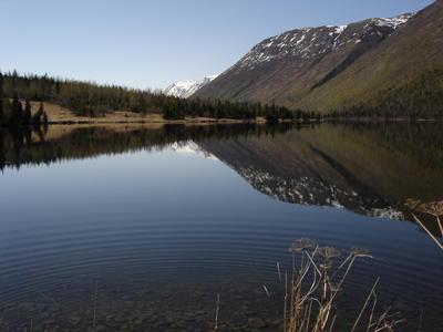 Lac situé entre Homer et la capitale Anchorage (Alaska, USA, Amérique du Nord)
