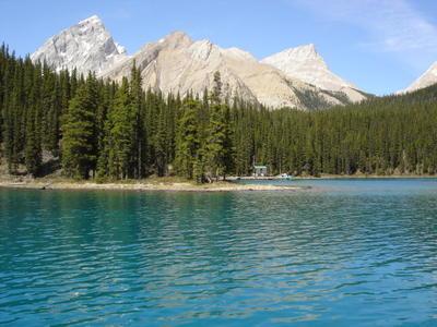 Le lac Maligne à côté de Jasper (Montagnes rocheuses canadiennes en Colombie Britannique - Alberta)