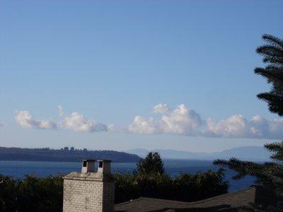 UBC vue depuis les propriètés de West Vancouver (Vancouver, Colombie Britannique, Canada)