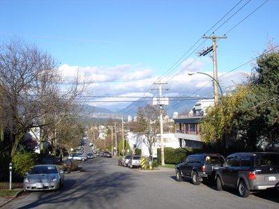Une rue de Kitsilano (Vancouver, Colombie Britannique, Canada)