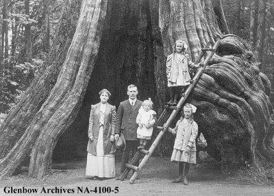 Une famille en vacances à Vancouver en Colombie Britannique