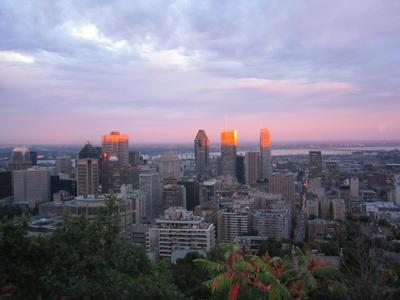 Le centre ville de Montréal depuis le parc du Mont Royal (Ville de Montréal, province du Québec, Canada)