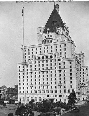 L'hotel de Vancouver en C-B, Canada