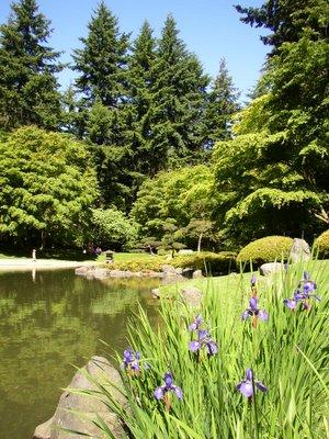 Vue du jardin japonnais de Nitobe à Vancouver en Colombie Britannique, Canada