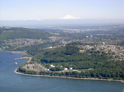 La banlieue sud de Vancouver: Burnaby (Vancouver, Colombie Britannique, Canada)
