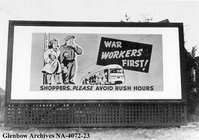Affiche pendant la guerre à Vancouver en Colombie Britannique, Canada
