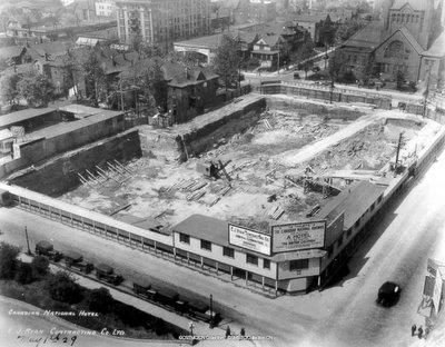 Construction de l' hotel Vancouver