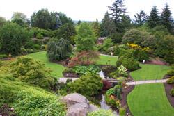 Panorama du Queen Elizabeth Park à Vancouver en Colombie Britannique, Canada
