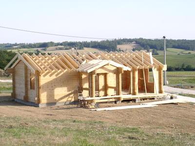 Auto construction en charente d 39 une maison en bois for Auto construction maison