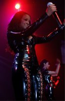 The Sugababes On Stage Dressed in PVC