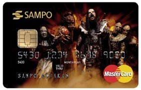 Bank card lordi - from Sampo