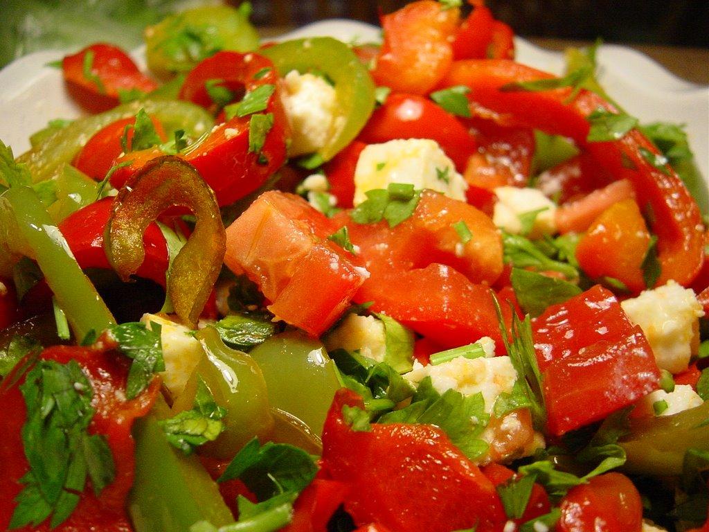 Salade ti de de poivrons la feta - Salade de poivron grille ...