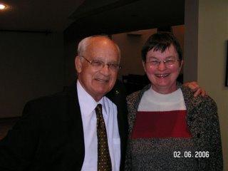 Merv Sheppard, speaker and Gloria Clarke