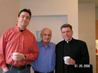 Brian Kellow, Merv Sheppard, Father Pat O'Dea