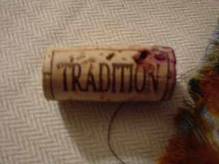 Cork that says \