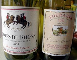 Côtes du Rhône 2004 and Touraine: Curvée du Savoir 2003