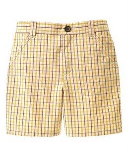 Janie & Jack Tropical Surf Plaid Shorts