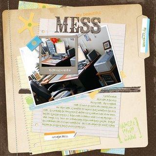 my {messy} scrapbook desk