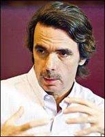 José María Aznar en reciente entrevista (Foto PL: Mynor de León)