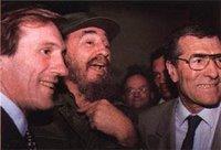 Gerard Depardieu compartiendo con el dictador cubano