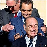 ¡¡¡amiguito Chirac, si te tengo a tí para que quiero enemigos!!!