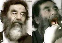 Sadam Hussein capturado dicendo ¡¡Aaahh!! para bien de su salud