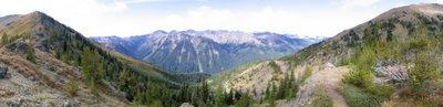 Panorama view from Marmot Pass