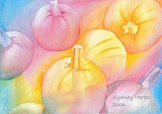 Rainbow Pumpkins by Sydney Harper