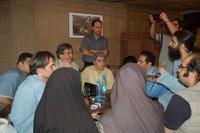 خبرنگاران برای مصاحبه جمع شدند