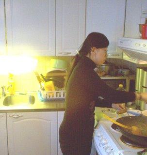 Tingting cooks