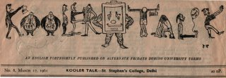 Masthead of Kooler Talk, march 1961