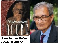 Two of India's Nobel Prize Winners, Rabindranath Tagore and Amartya Sen