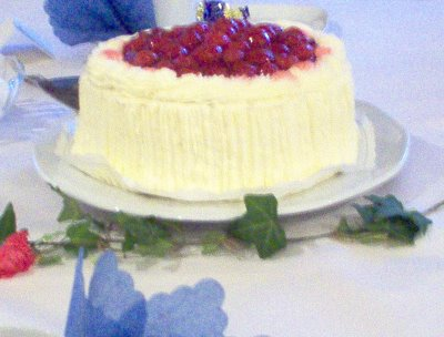 Traditional Finnish berry cake
