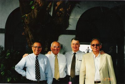 Feroze Vakil (1963/64); Reuben Solomon (1963/64);  David Nissim (1964/65) and Adil Gandhy (1962/63)