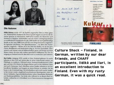 Culture Shock, Authors, Inscription, Cover
