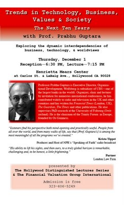 Prabhu Guptara Holywood Lecture