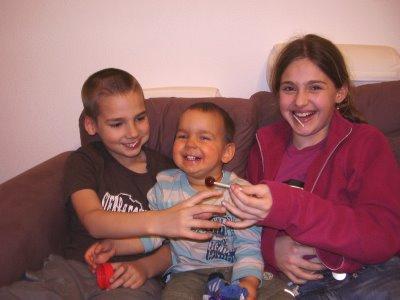 Merran, Daniel and Samuel