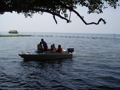 Boating on the Vembanad Lake, Kumarakom