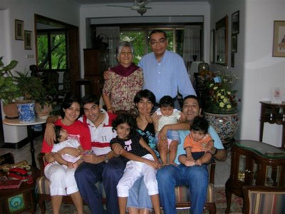 Kamal, 57er Sunil and their family in Pune, 2006