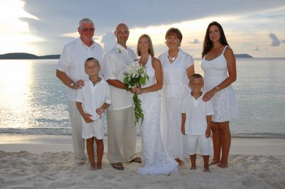 57er Tom Holter's daughter Nancy's wedding St. John's Virgin Island