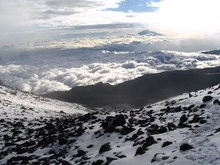 View of Mt. Meru from Arrow Camp